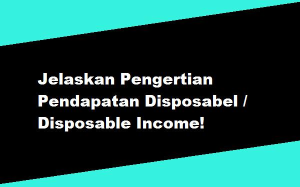 Jelaskan Pengertian Pendapatan Disposabel