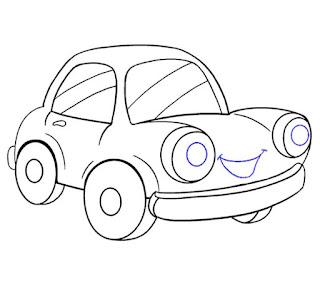رسمة سيارة سهلة للاطفال (18)