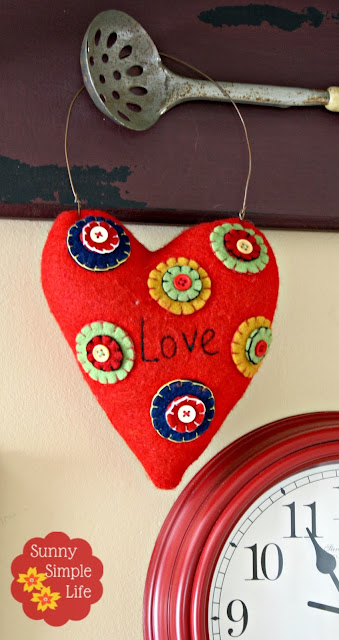 fabric heart pillow
