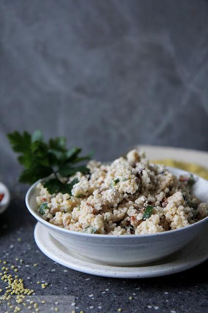 Sałatka z kaszą jaglaną i serem feta