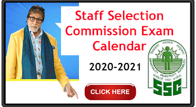 SSC exam Calendar Staff Selection Commission Notifications