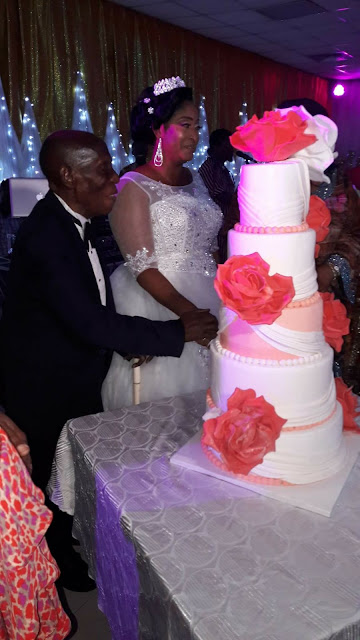 87-year-old former lawmaker, Sen. Cyrus Nunieh weds his much younger bride in Port Harcourt (photos)
