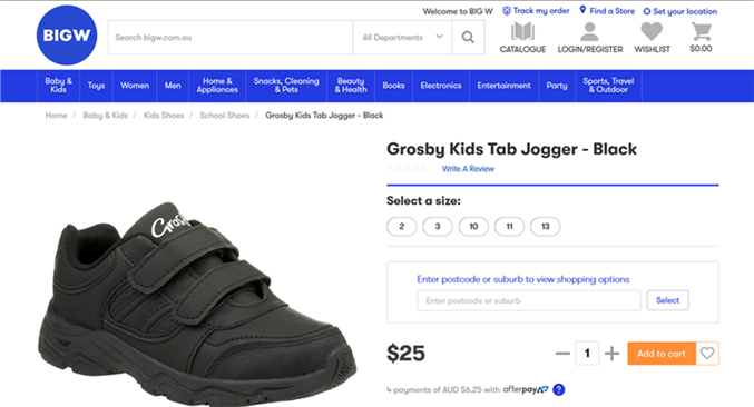 Big-W-School-Shoes