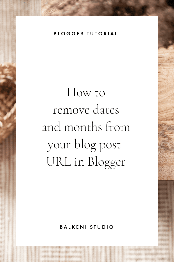 change url structure in blogger blog posts
