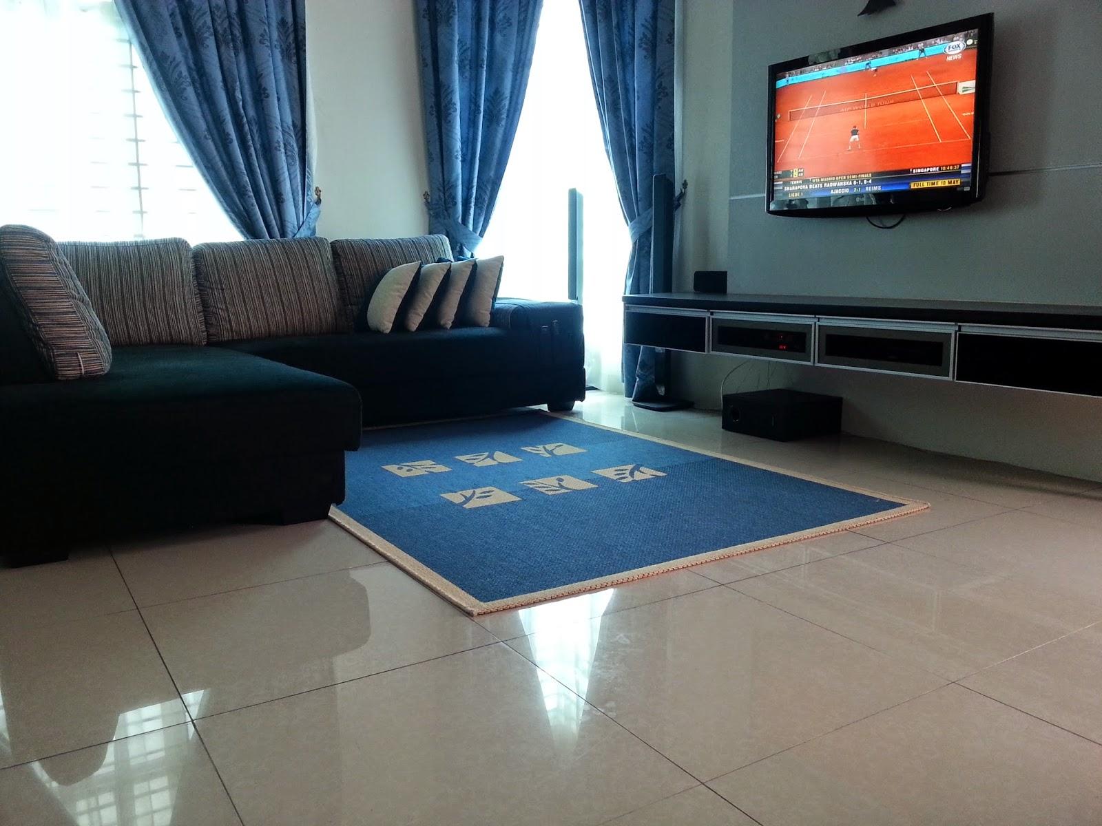 X Presi By Kemn Azmaili Ruang Tamu Yang Simple Carpet Pun
