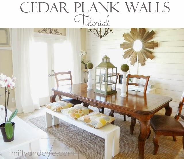 Cedar Planked Wall Tutorial