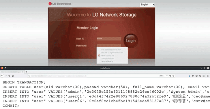Critical Unpatched RCE Flaw Disclosed in LG Network Storage Devices