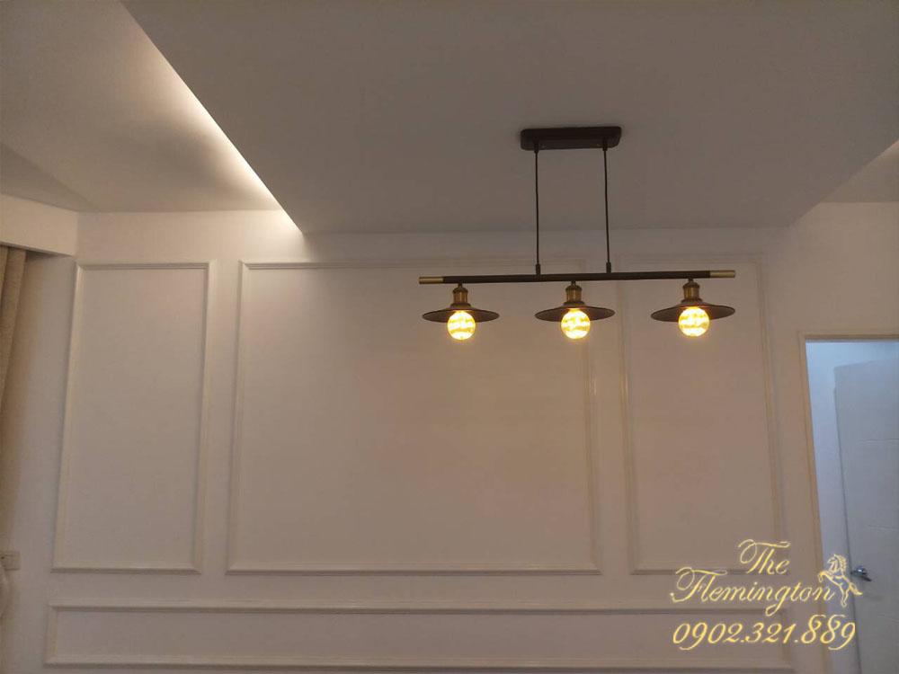5 căn hộ THE FLEMINGTON cho thuê giá tốt nội thất đầy đủ - đèn 3 tại bàn ăn