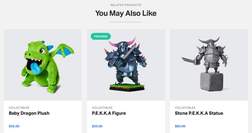 Supercell lança sua loja oficial de produtos Clash (Camisetas e action figures) - 2