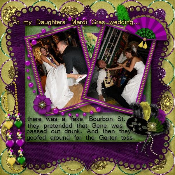 Mardi Gras Wedding Ideas: Pawprint Designz: FTU Mardi Gras Themed Wedding LO's