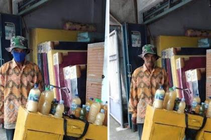 Viral kakek penjual jamu di tipu beri uang kembalian ke yang belum bayar