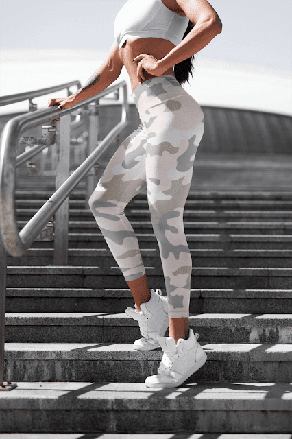 camo capri leggings womens fashion