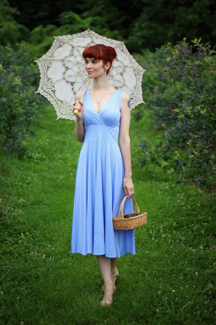 Forget Me Not Dot Dress in Abigail from KarinaDresses.com