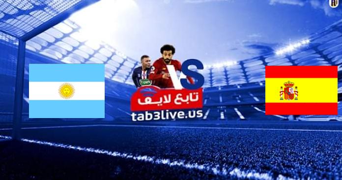 نتيجة مباراة اسبانيا والأرجنتين  اليوم 2021/07/28 الالعاب الأولمبية 2020