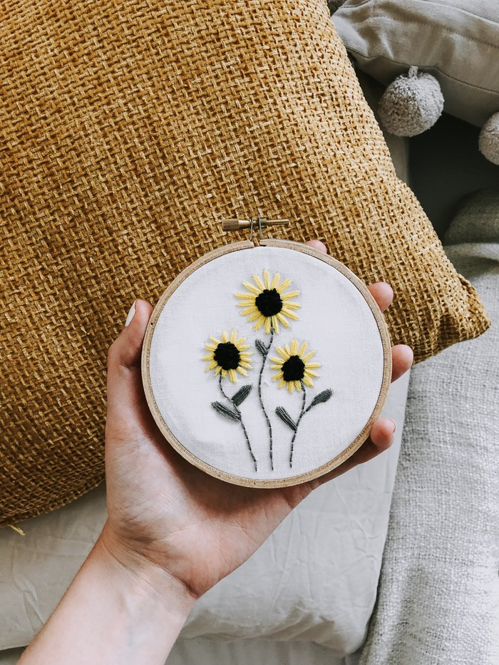 A Guide To Embroidery For Beginners  - a simple guide to getting started with hand embroidery.