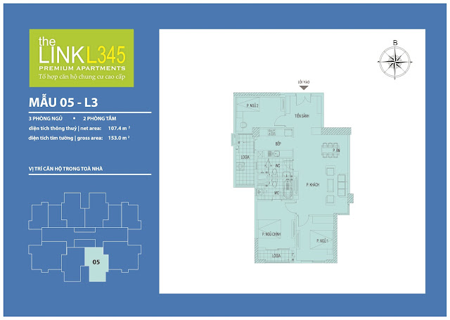 Bán chung cư The Link L3 L4 L5 Ciputra - UDIC