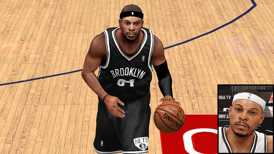 NBA 2K14 Paul Pierce Next-Gen Face Mod