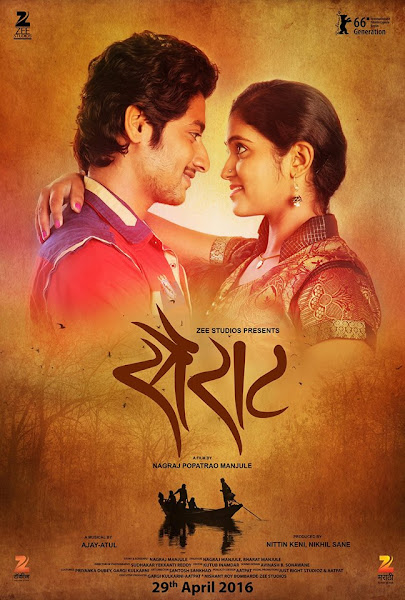 Poster of Sairat 2016 720p Marathi DVDRip Full Movie Download