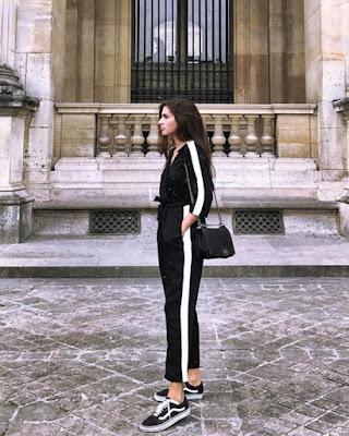outfit blanco y negro tumblr de moda casual