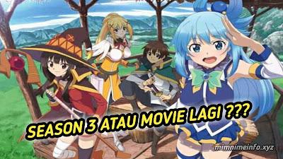 Proyek Baru Anime Konosuba Itu Season 3 atau Movie?