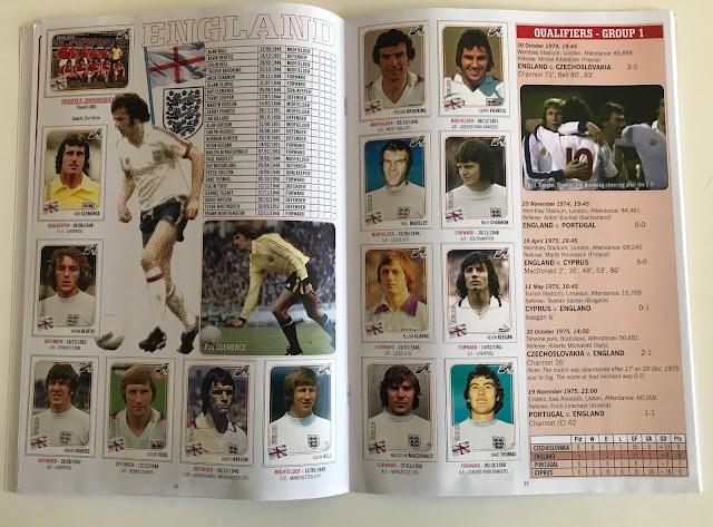 Figurine Inghilterra Euro 76