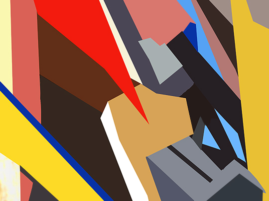 abstract, paintings, multi coloured, geometric, contemporary, modern, large, artist, Sam Freek,