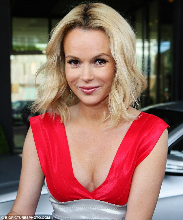 Amanda Holden Worked A Sexy Red And Silver Mini Dress As She Turned Up To The Britains Got Talent Audition At The Icc Birmingham This Afternoon