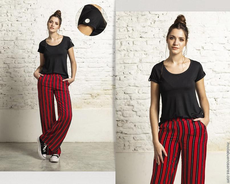 Pantalones a rayas primavera verano 2020 mujer.