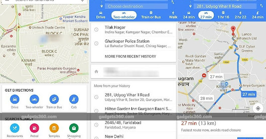 Google Maps Gets Motorcycle Mode in India, Showing Navigation Routes for Two Wheelers