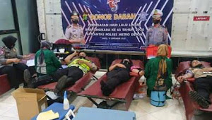 Satlantas Polres Depok, Gelar Donor Darah
