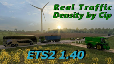 Real Traffic Density for ETS2 1.40 beta