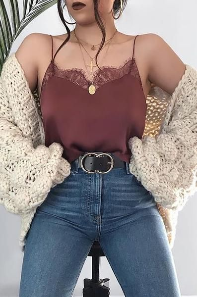 outfit con sueter tejido
