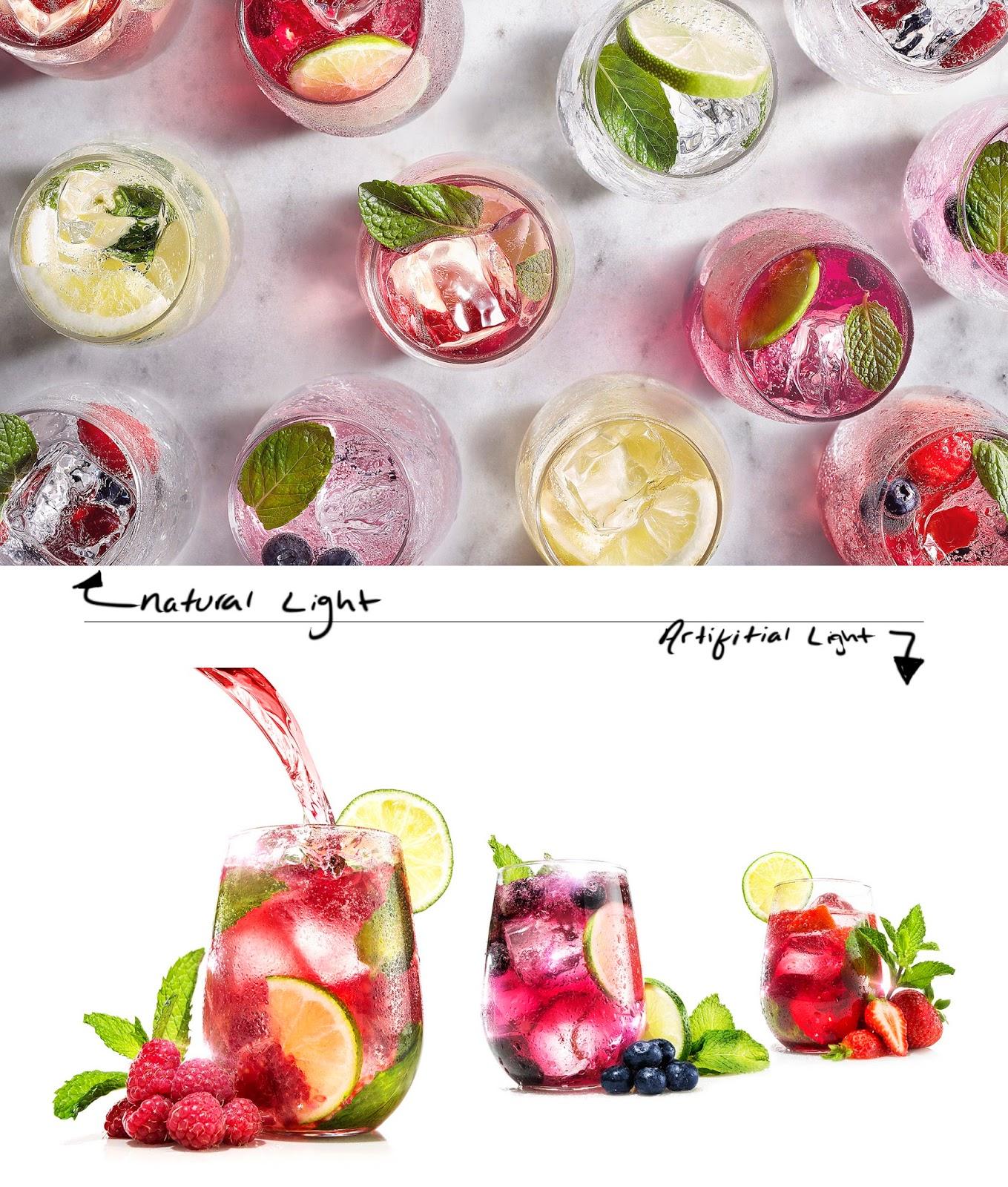 Естественный и искусственный свет в съемке еды
