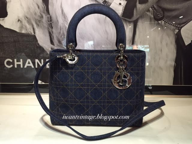 ff6dc1fdef44 Christian Dior Quilted Cannage Denim Medium Lady Dior Bag