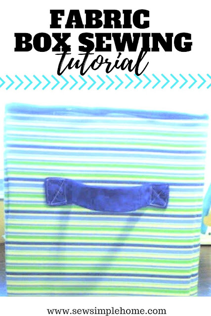 Learn how to make a fabric box to help get your closet organized or toys.