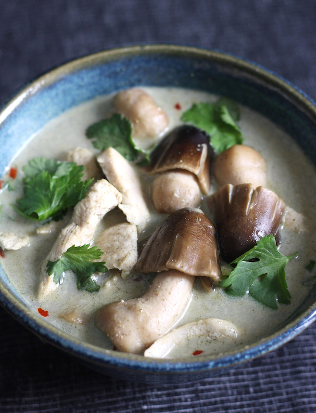 Tom Kha Gai (Thai Chicken Galangal Soup) recipe by SeasonWithSpice.com