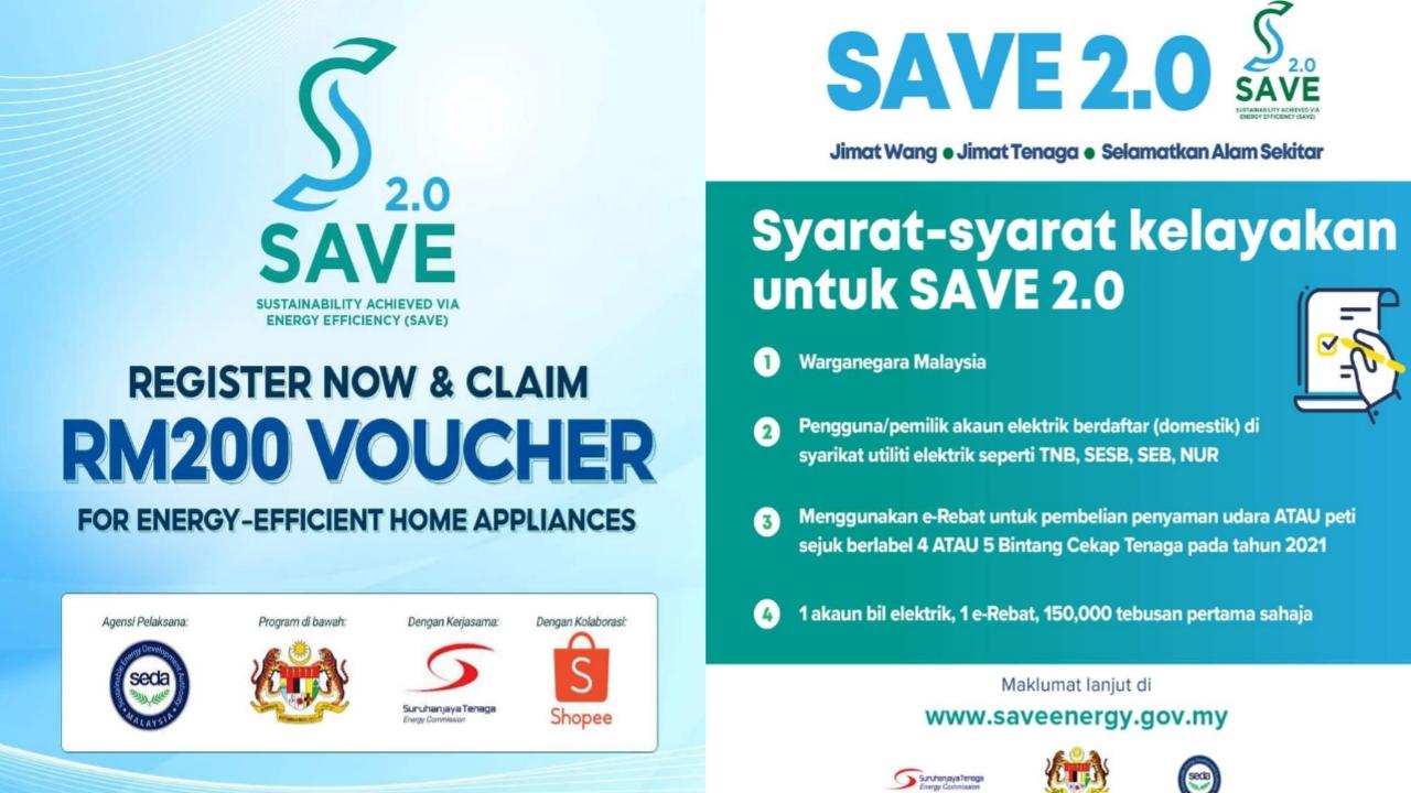 Cara Daftar Program SAVE 2.0 Dan Tebus e-Rebat RM200 Di Shopee