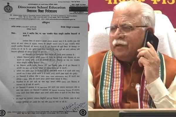 haryana-guidelines-government-sanskriti-model-primary-schools-news