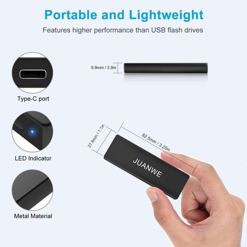 Review JUANWE 1TB Portable External SSD USB 3.1