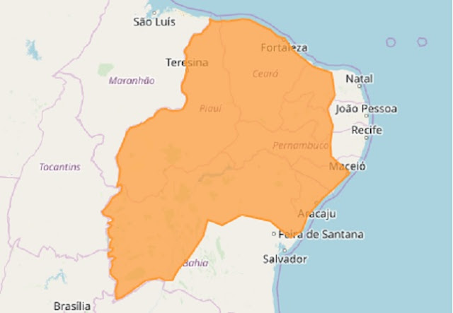 INMET emite alerta de chuva forte em Sergipe