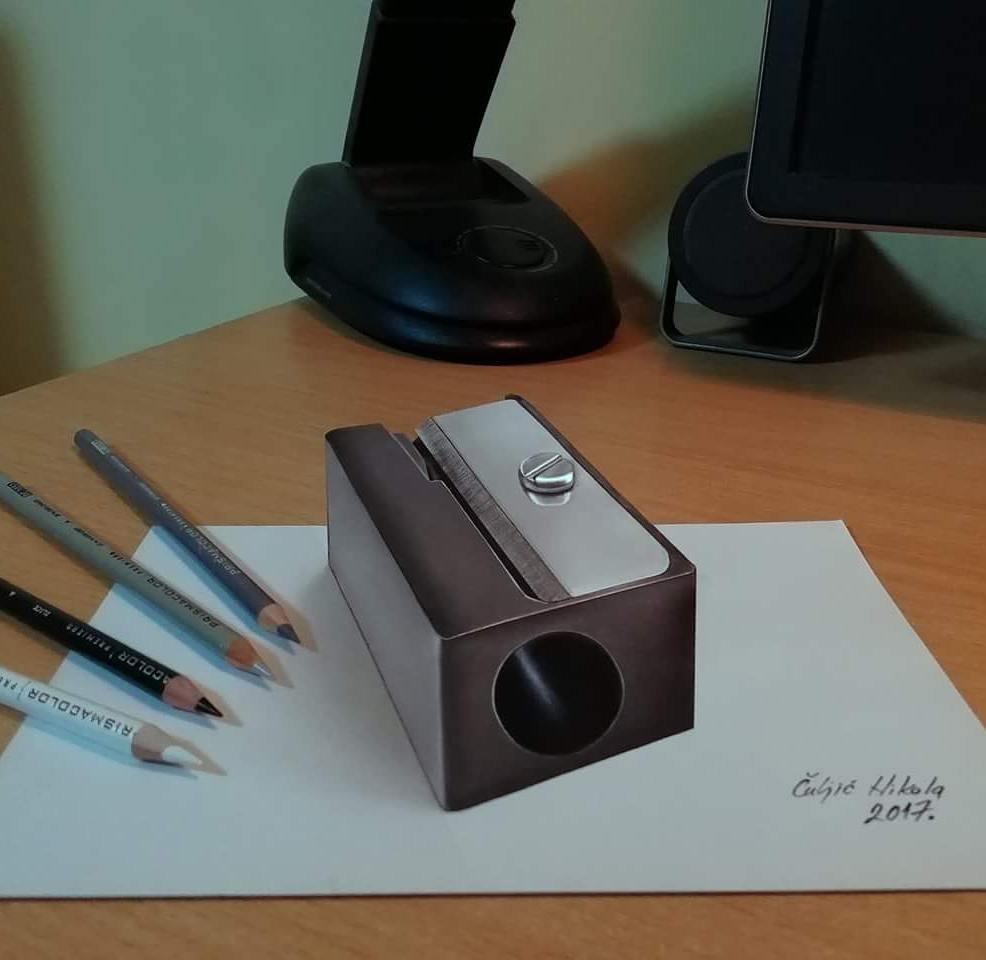 12-Giant-Pencil-Sharpener-Nikola-Čuljić-2D-Realistic-Drawings-that-look-3D-and-a-Video-www-designstack-co