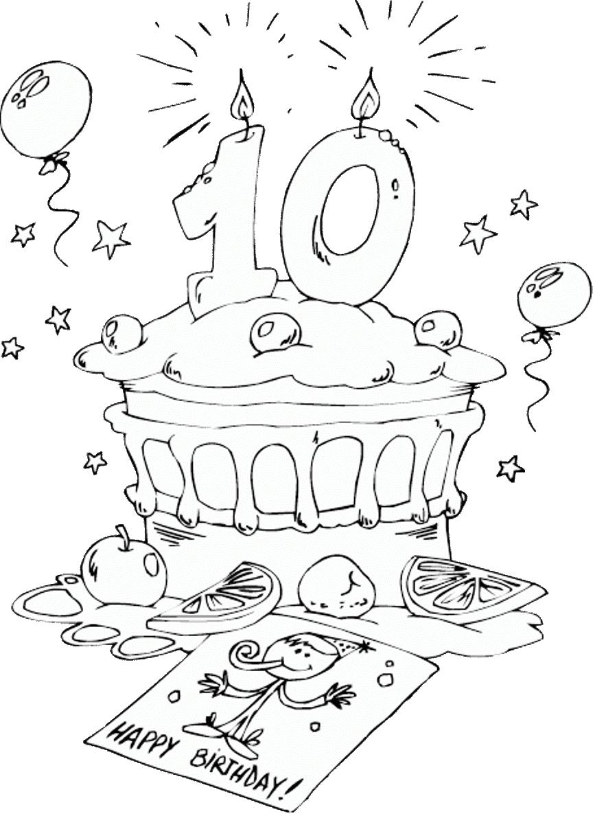 Gambar Mewarnai Kue Ulang Tahun 6