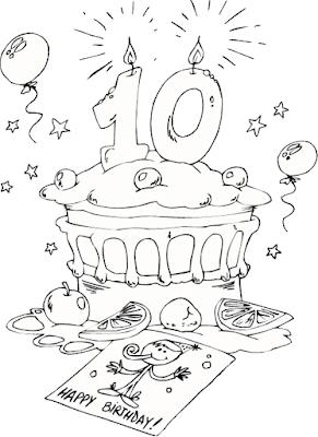 Gambar Mewarnai Kue Ulang Tahun - 6