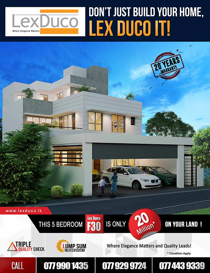 5 bedroom Lex Duco F30 is only 20 Mn on your land