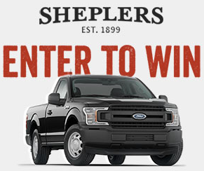 Sheplers is giving away a Ford F-150 Truck! Simply enter once and you could win a check for $12,000 towards a three year lease!