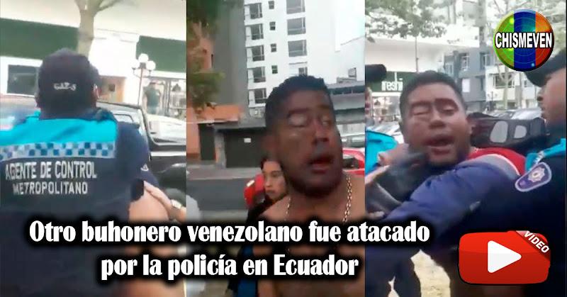Otro buhonero venezolano fue atacado por la policía en Ecuador