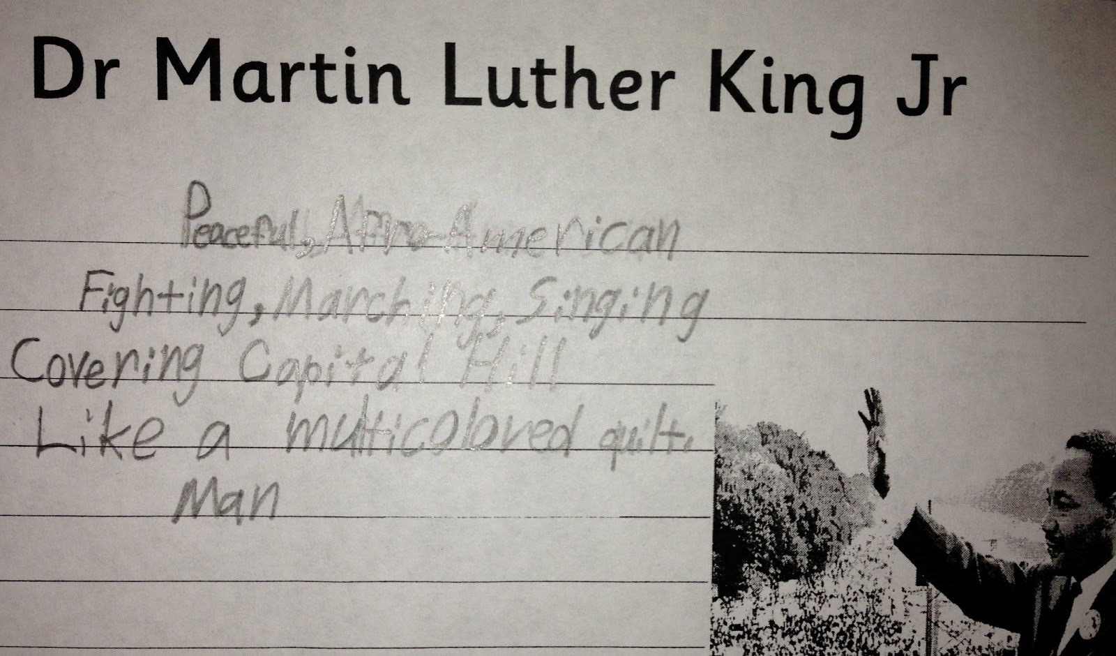 Martin Luther King Writing Prompts Third Grade