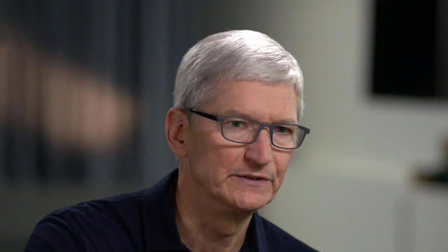"""Os chineses não têm como alvo a Apple..."", disse o CEO da Apple, Tim Cook, à CBS News."