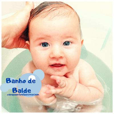 Como dar banho de balde no bebê?