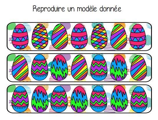 Reproduire un modèle donné un algorithmeoeufs de Pâques